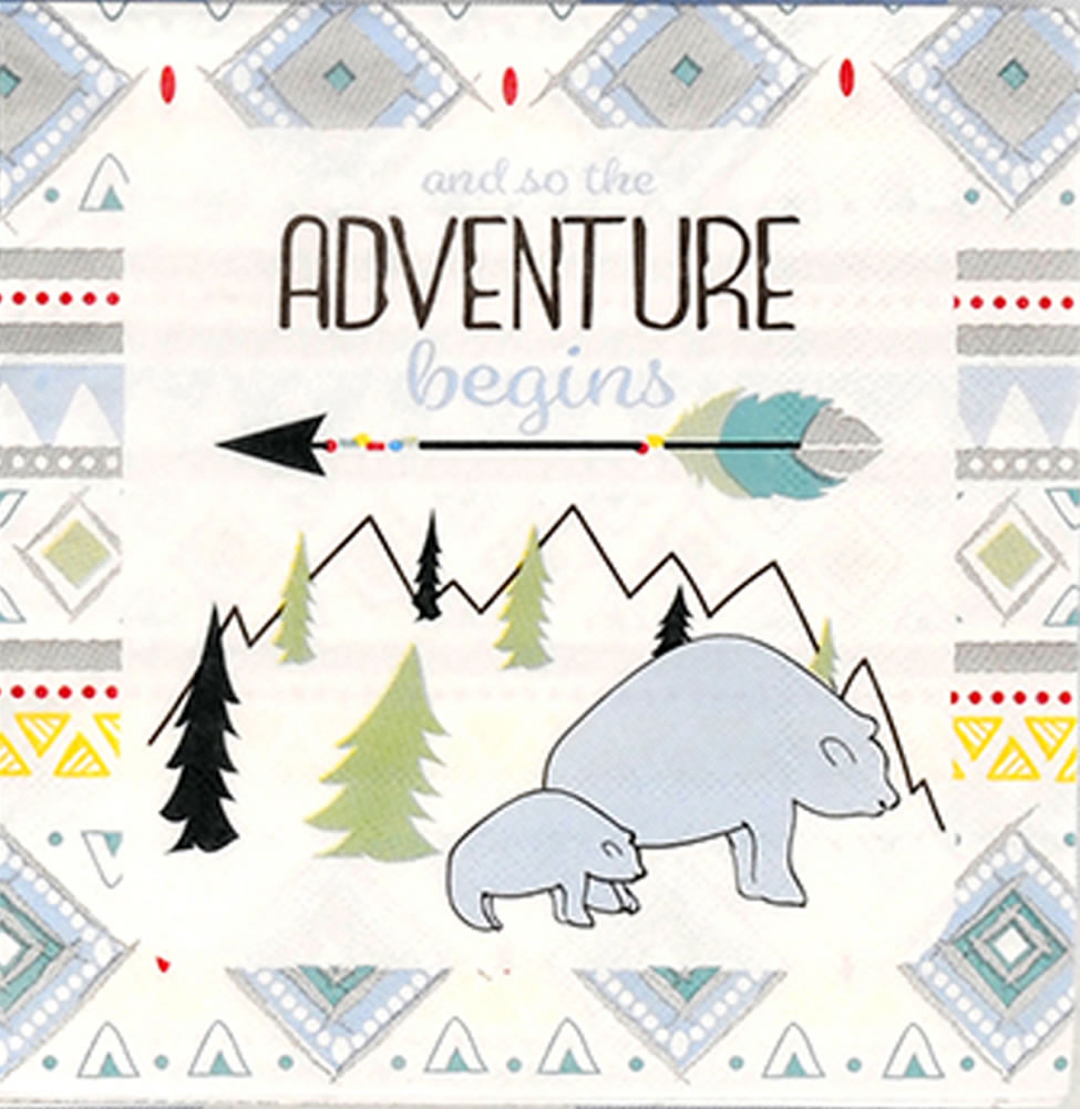 The Adventure Begins BOY Luncheon Napkin