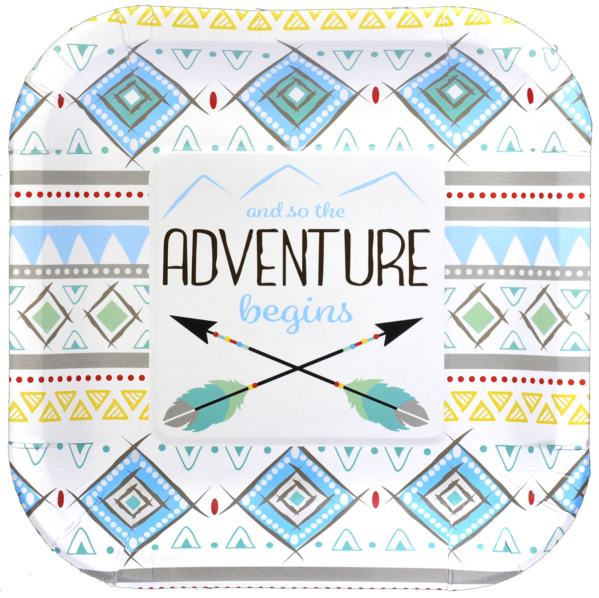 The Adventure Begins BOY 7 inch Party Plate