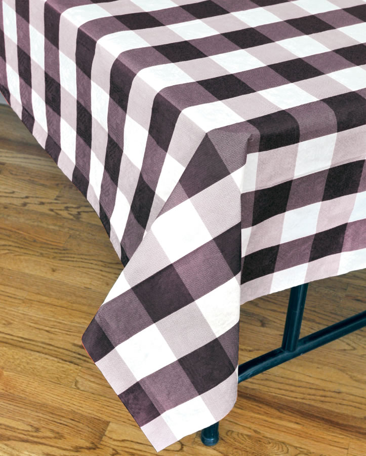 Classic Plaid Tablecover - Black and White