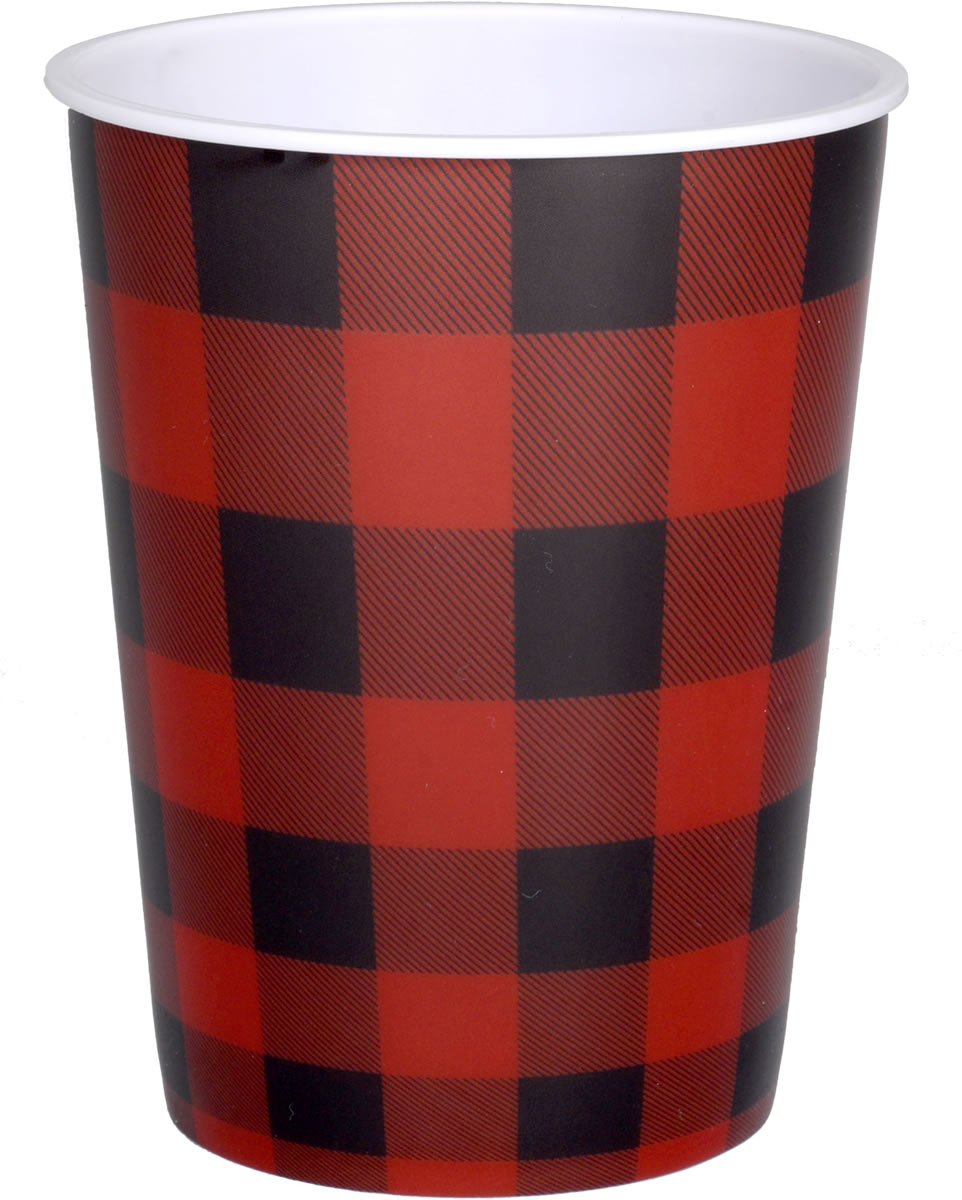 Buffalo Plaid Plastic Party Cup