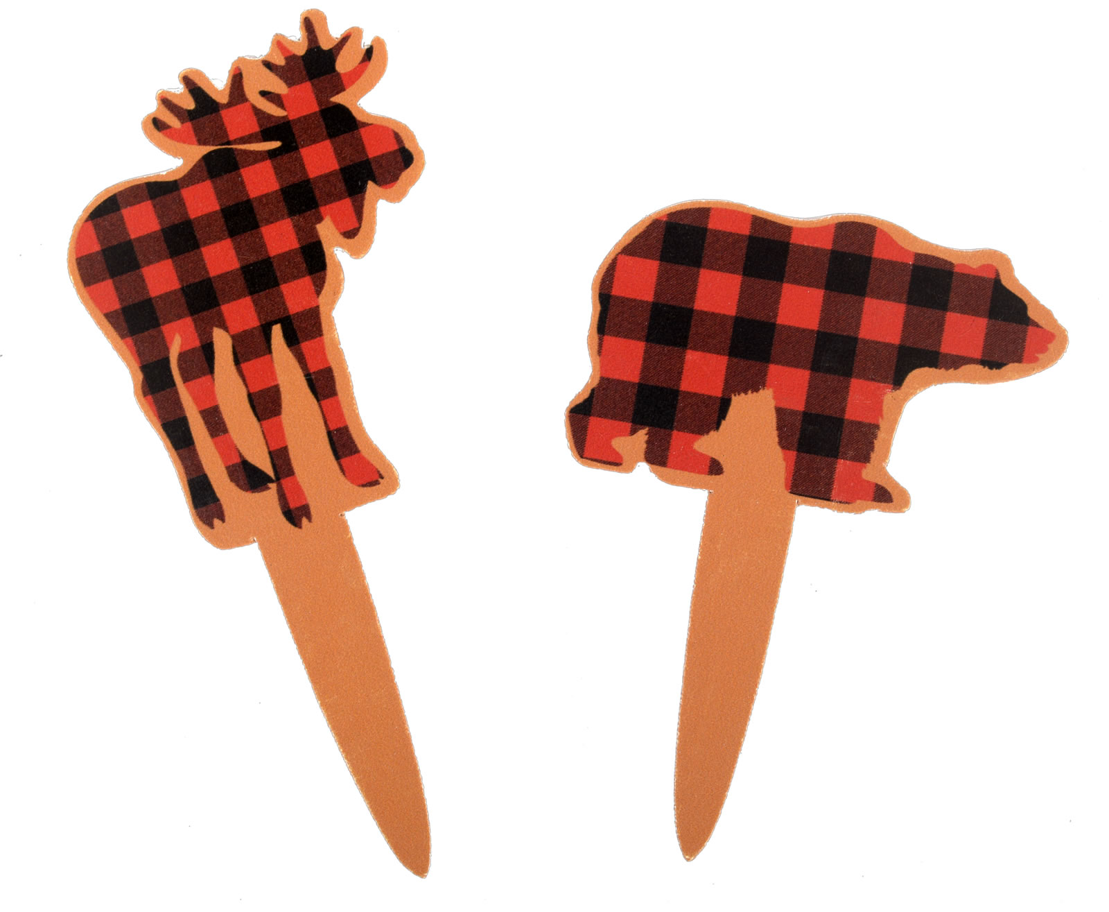 Moose-Bear Buffalo Plaid Party Picks