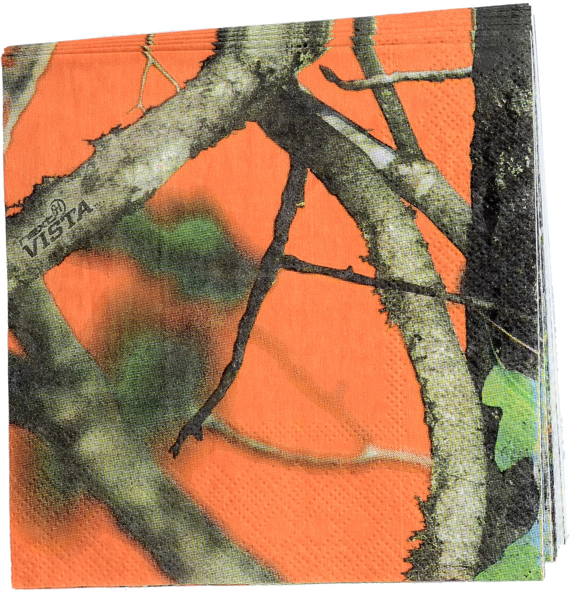 Camo Colorz Orange Camo Beverage Napkin