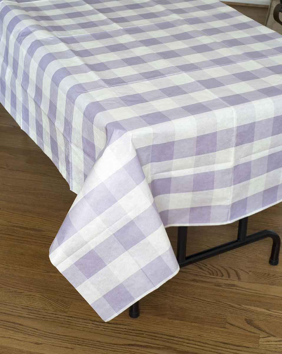 Classic Plaid Tablecover - Lavender