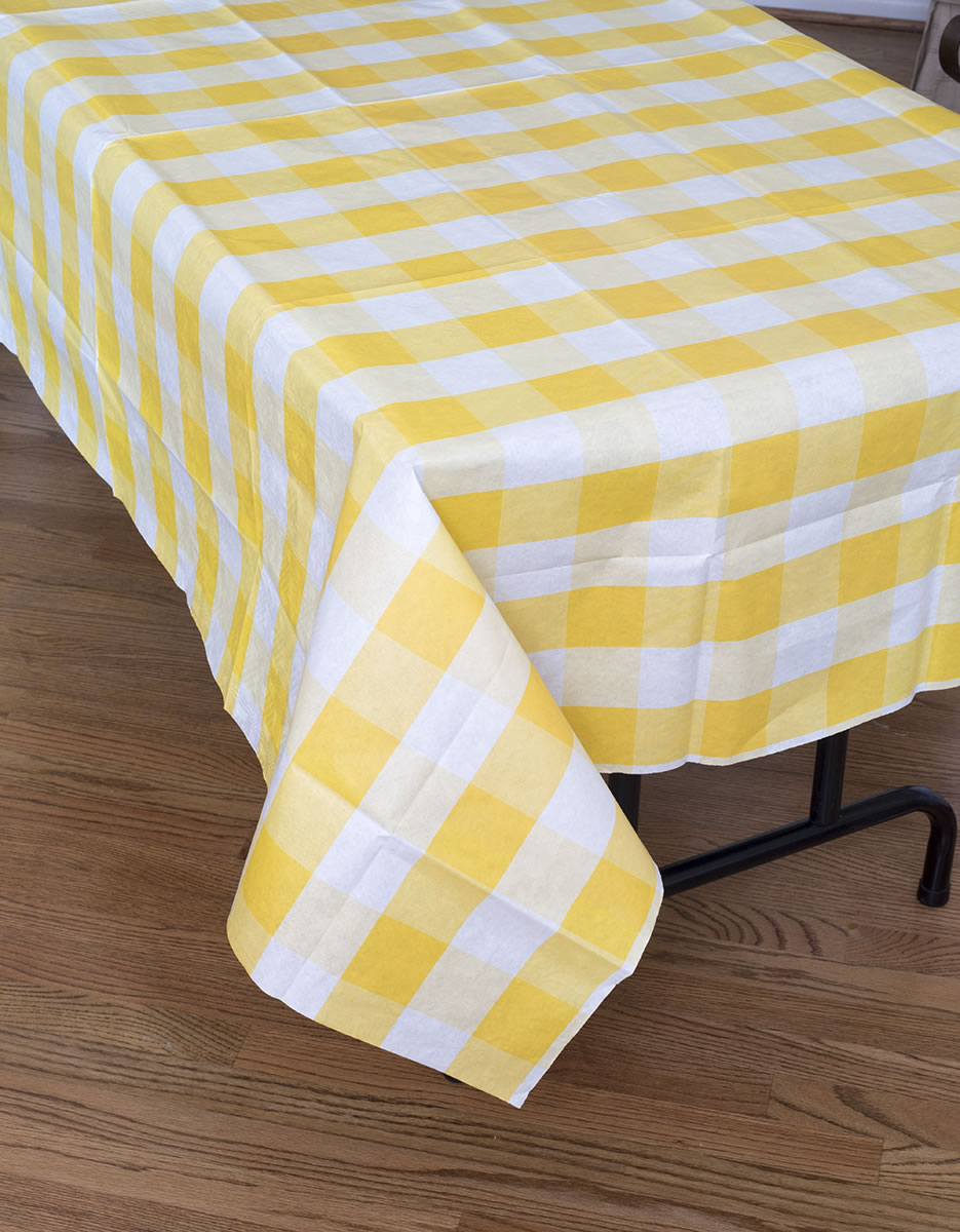 Classic Plaid Tablecover - Yellow
