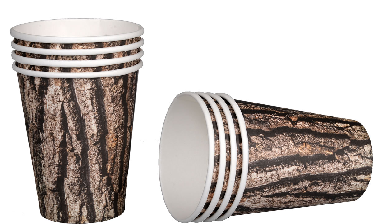 Cut Timber 12 Ounce Cups - 8 Pack