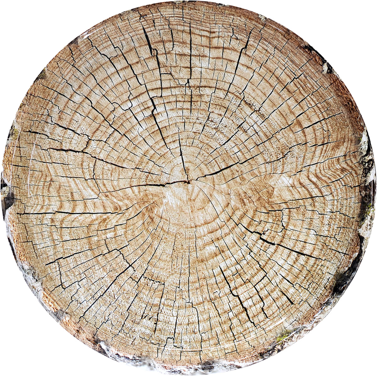 Cut Timber 15 inch Round Platter
