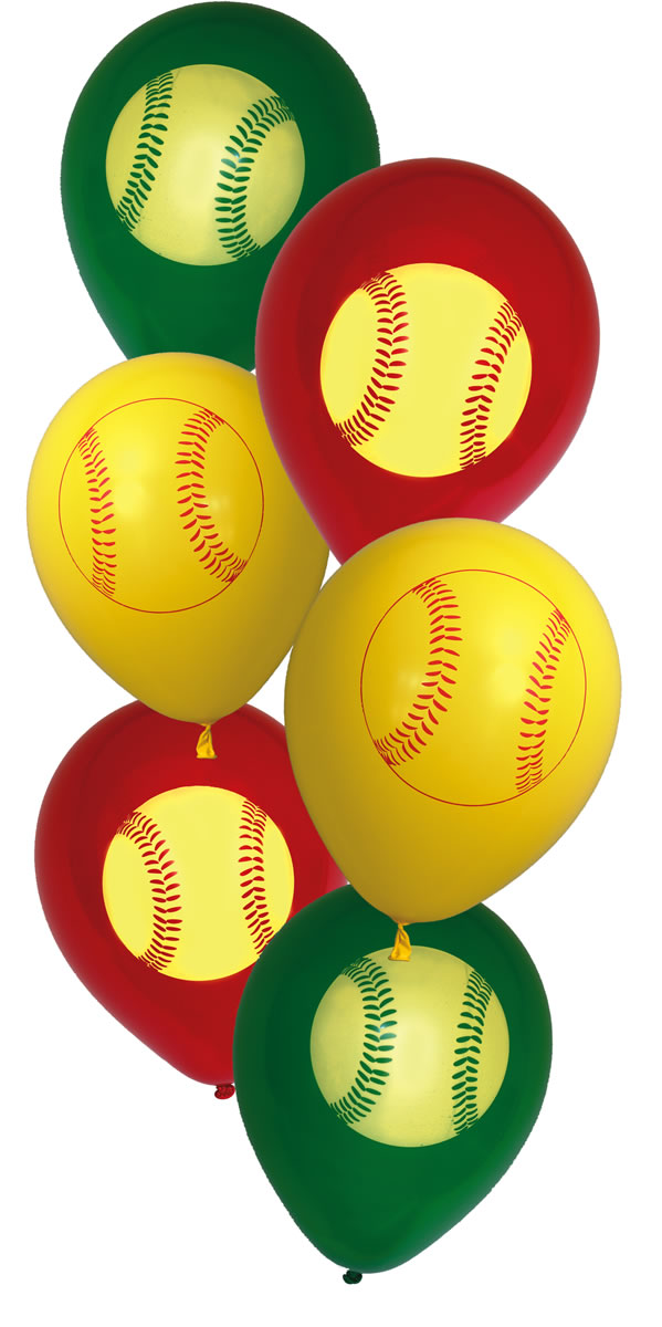 Girl's Fastpitch Softball Latex Balloons