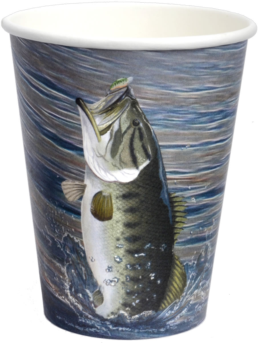 Gone Fishin' 12 oz. Cups