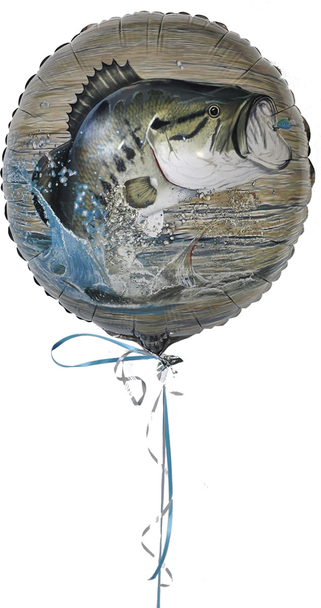 Gone Fishin' Party Mylar Balloon