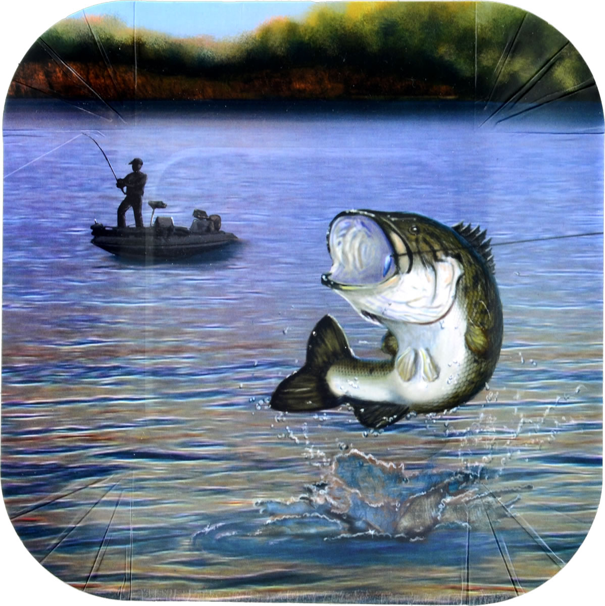 Gone Fishin' 7 inch Square Party Plate