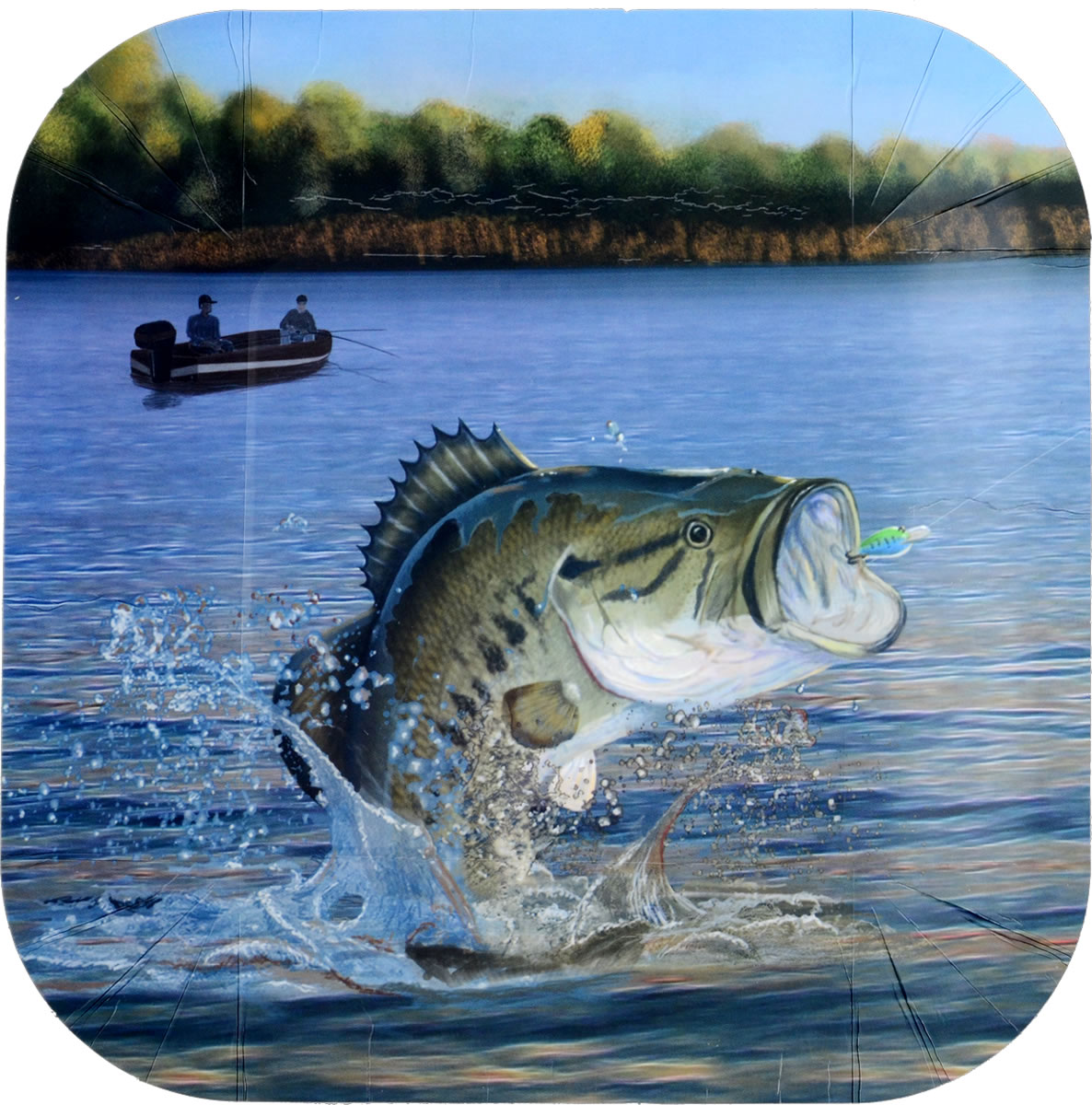 Gone Fishin' 9 inch Square Party Plate
