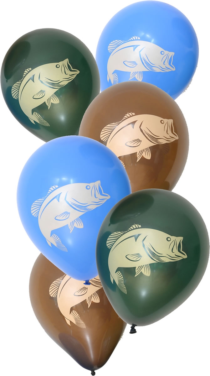 Gone Fishin' Party Latex Balloons