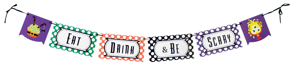 Eat, Drink, and Be Scary Banner