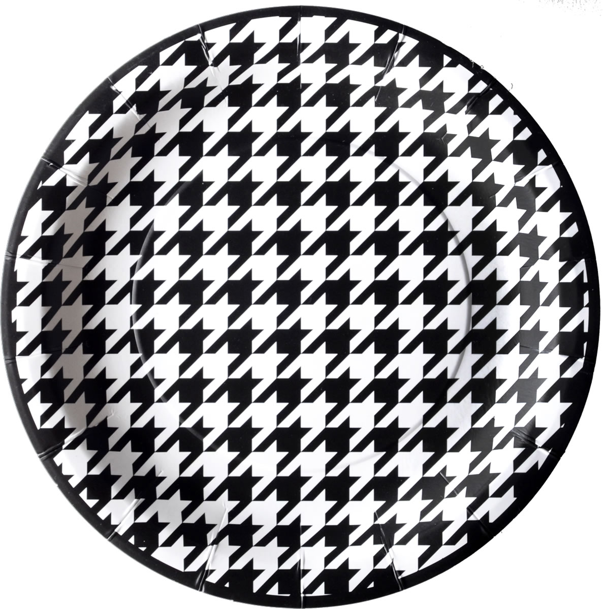 Houndstooth - 9 Inch Party Plate