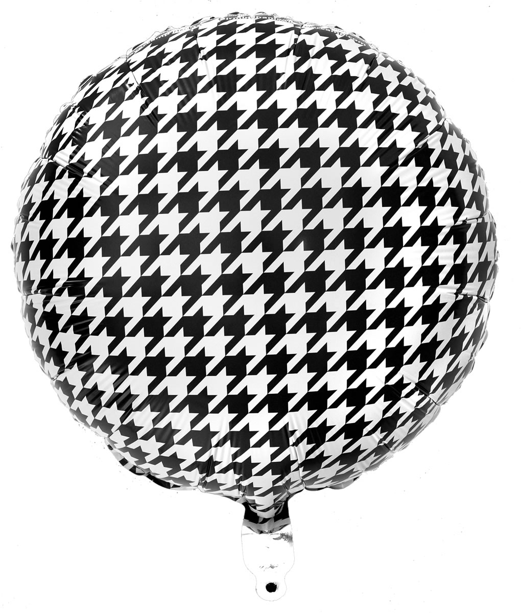 Houndstooth Mylar Balloon