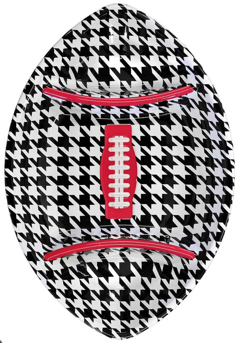 Houndstooth Football Chip n Dip Platter