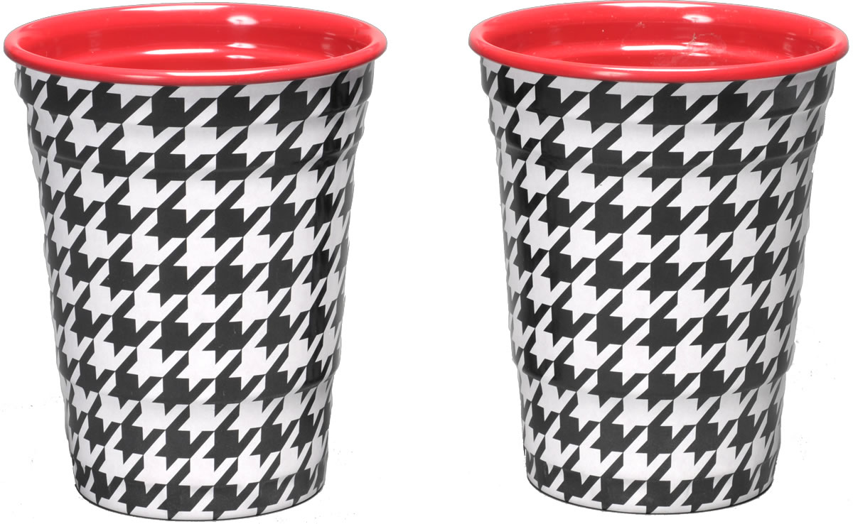 Houndstooth Melamine Party Cups