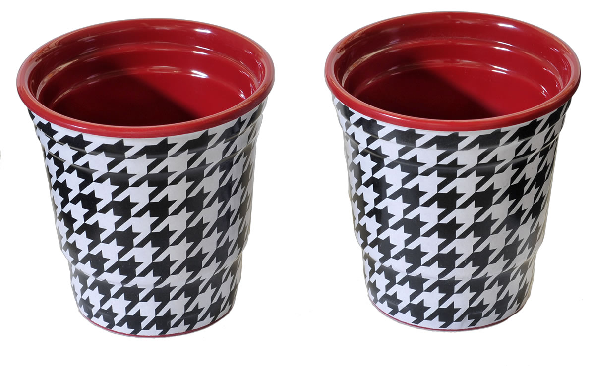 Houndstooth Shot Cups