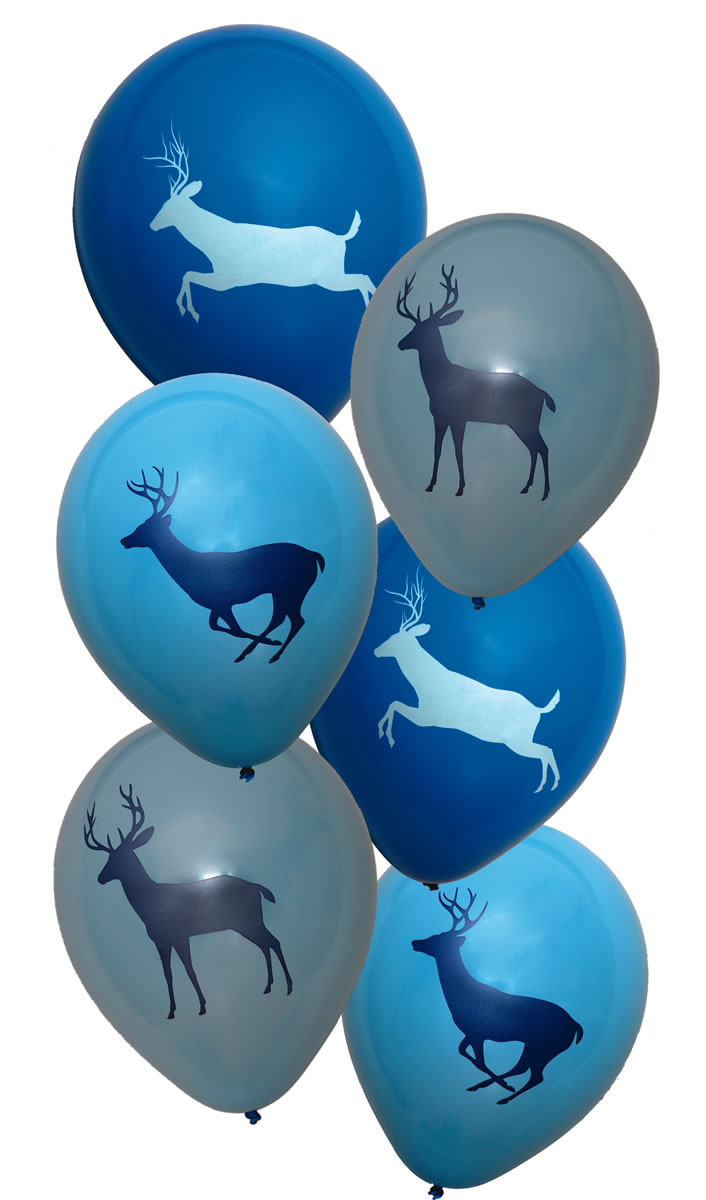 Light Blue Camo Latex balloons