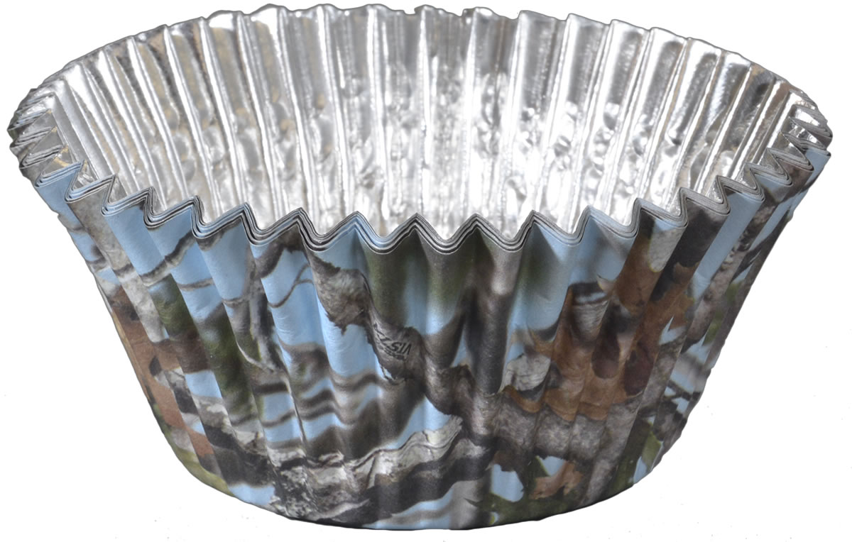 Light Blue Camo Cupcake Liners