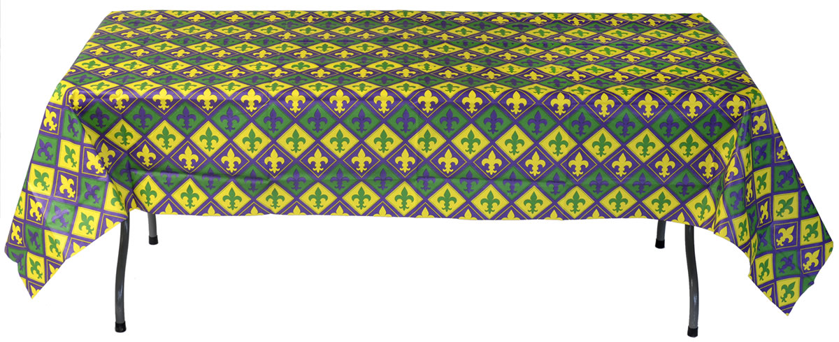 Mardi Gras Tablecover - Paper 54 x 108