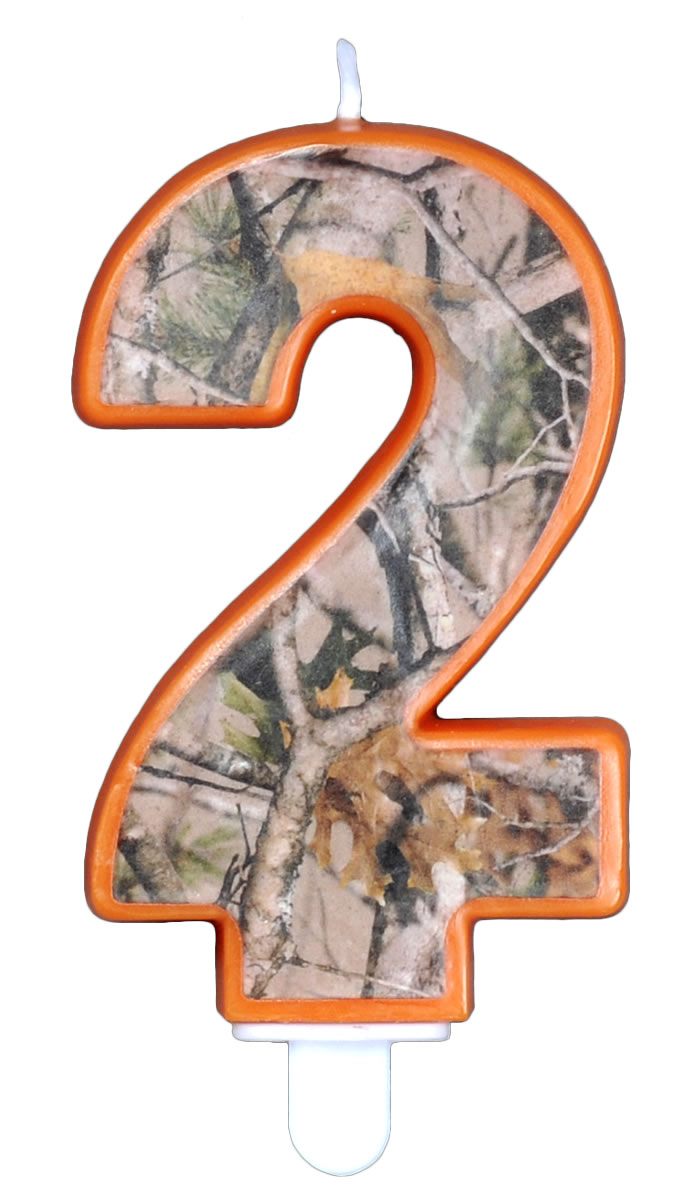 NEXT Camo Birthday Candle - Number Two