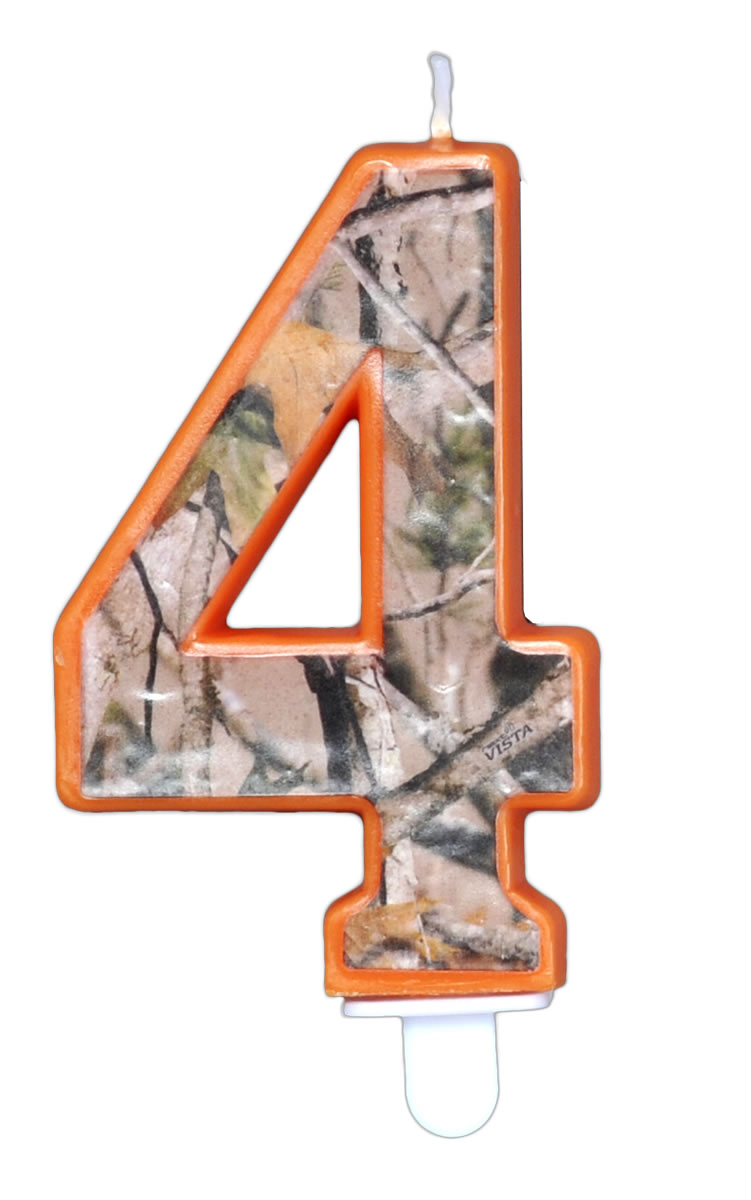 NEXT Camo Birthday Candle - Number Four