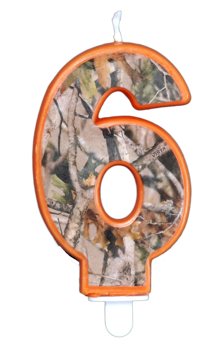 NEXT Camo Birthday Candle - Number Six