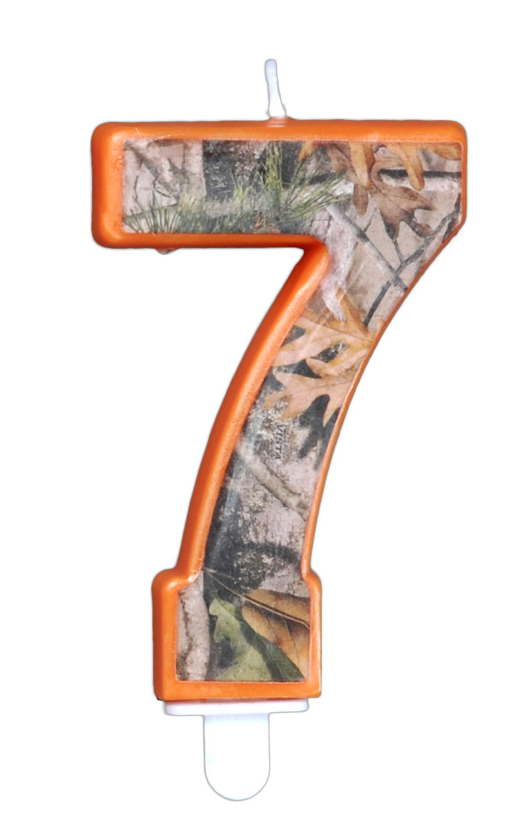 NEXT Camo Birthday Candle - Number Seven