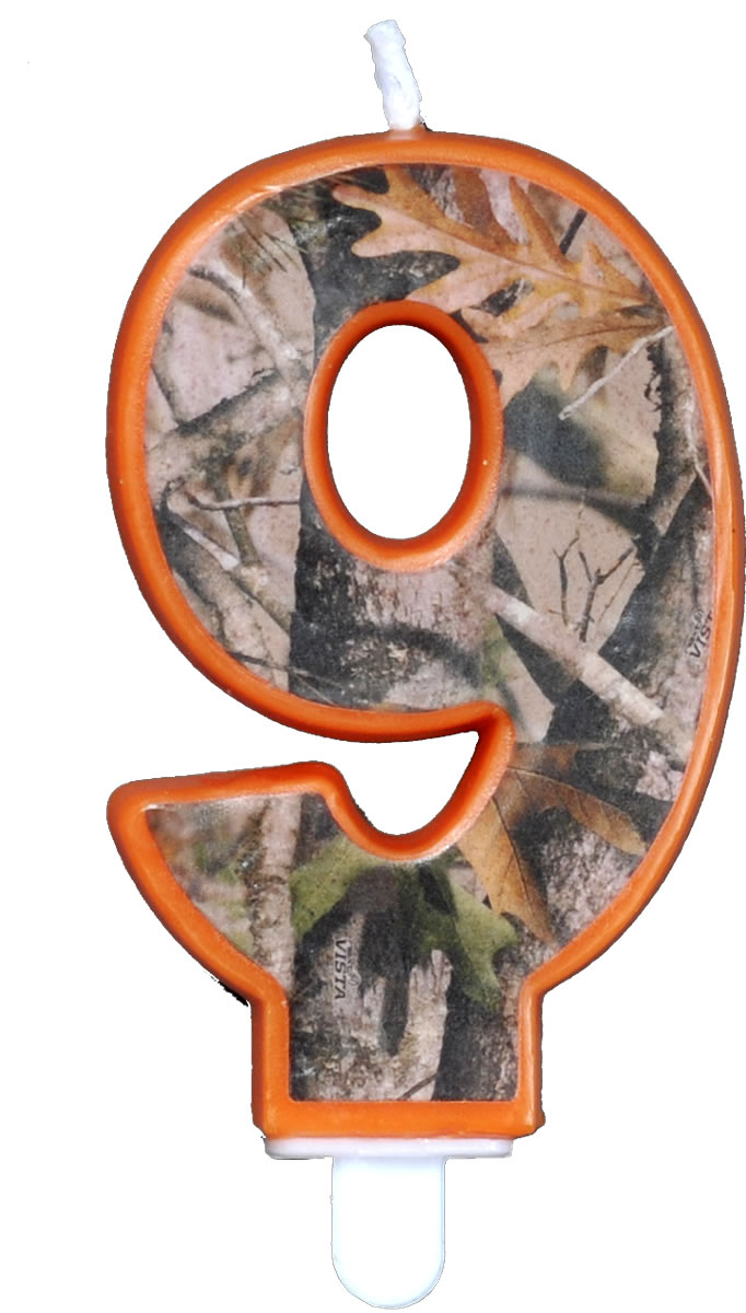 NEXT Camo Birthday Candle - Number Nine