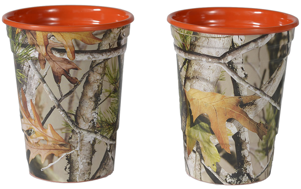NEXT Camo Party Cups - Orange Interior