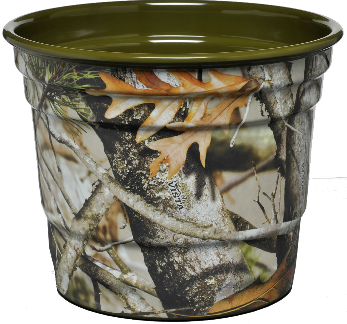 NEXT Camo Party Bucket -Hunter Green Interior