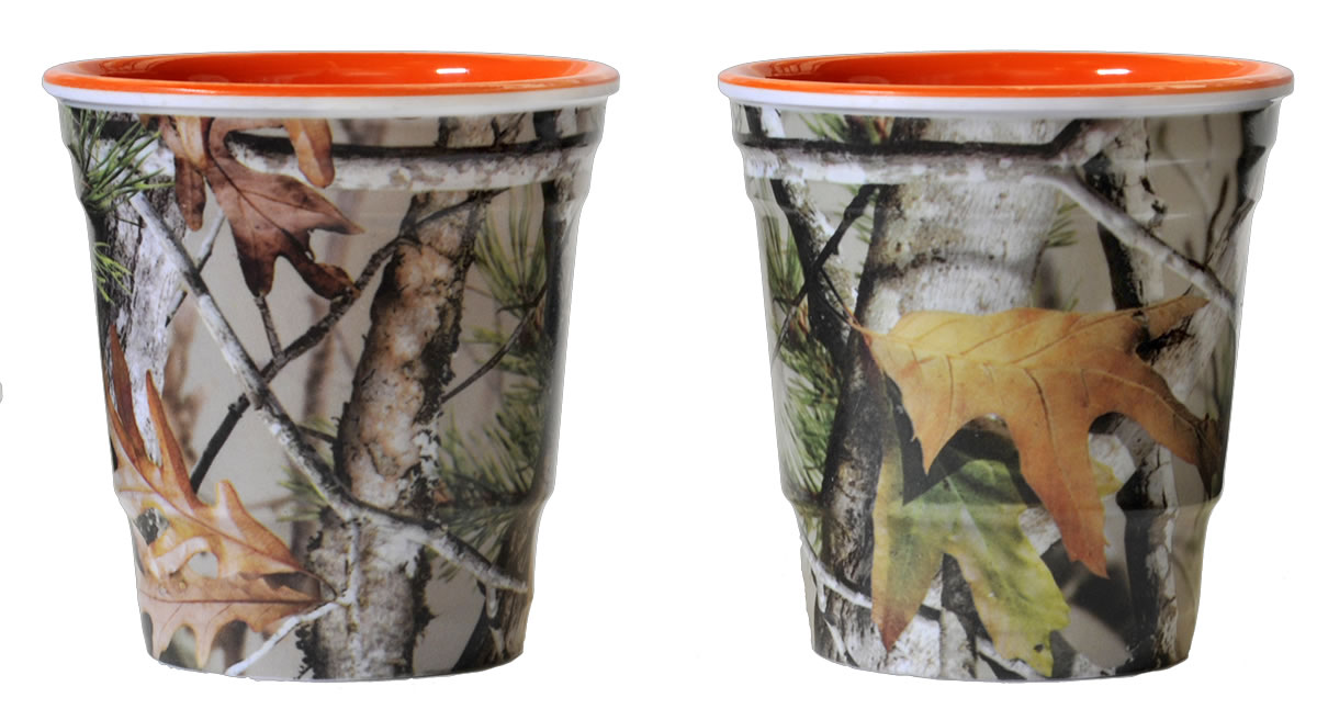NEXT Camo Shot Cups - Orange Interior