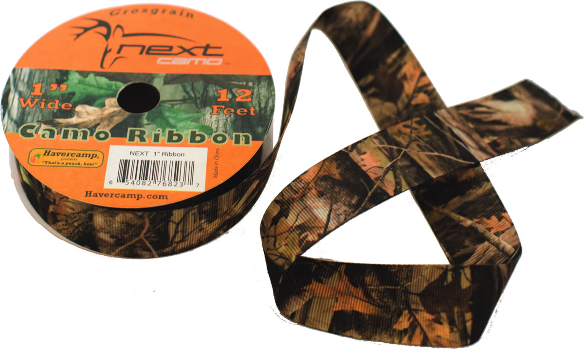 NEXT Camo Ribbon - Grosgrain Fabric