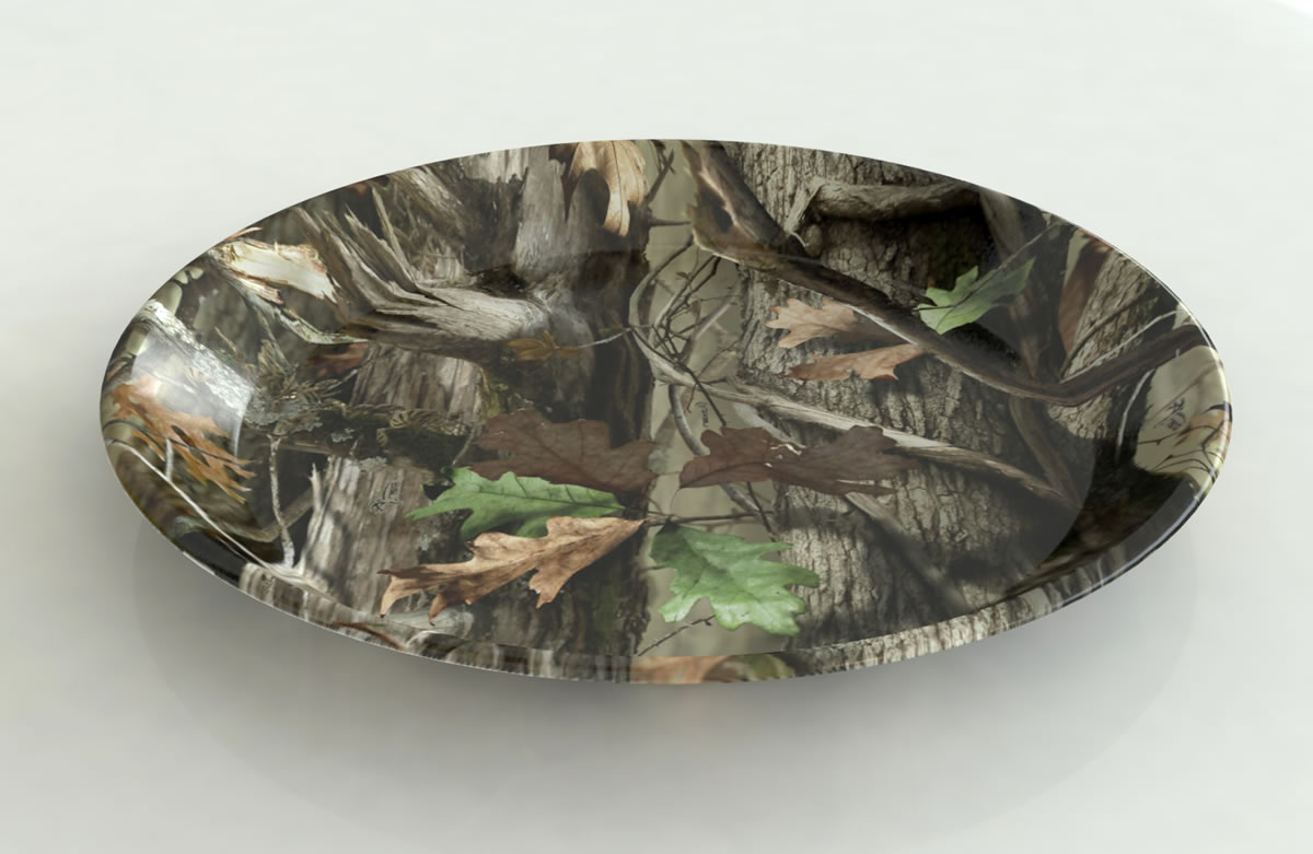 NEXT Camo ROUND plastic Serving Platter