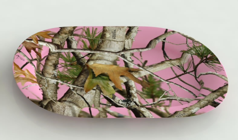 PINK Camo Oval Serving Platter
