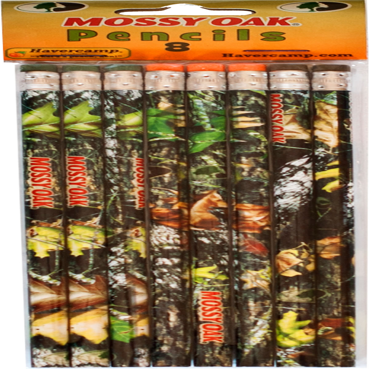 Mossy Oak Pencils - 8 Pack