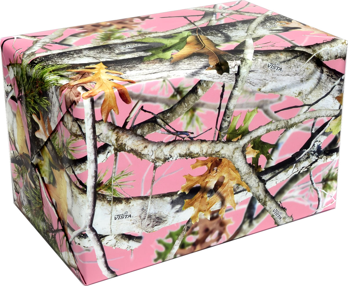 PINK Camo Gift Wrap - Flat Packed