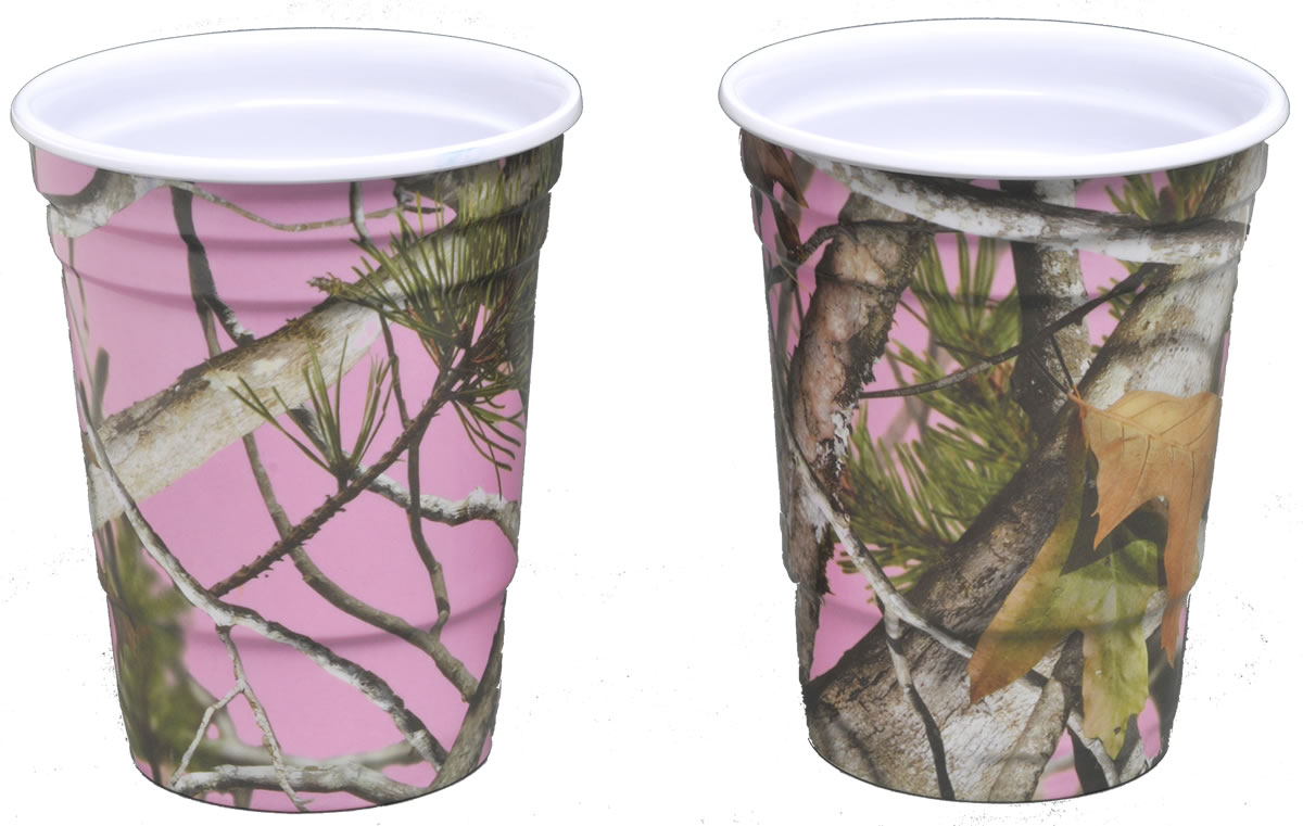 PINK Camo 16 oz. Melamine Party Cups
