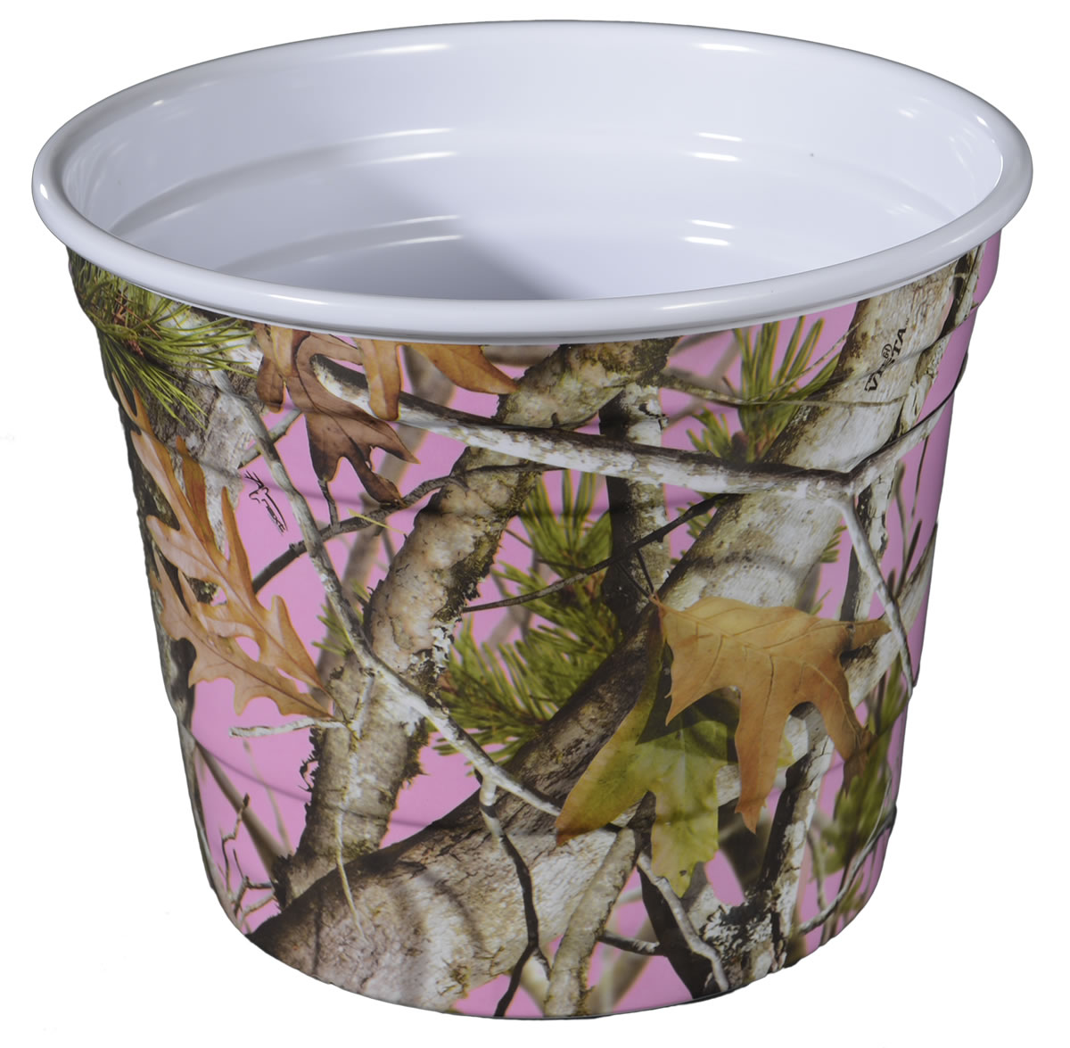 PINK Camo Melamine Party Bucket