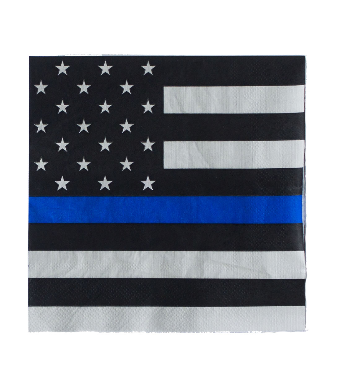Thin Blue Line Paper Napkins