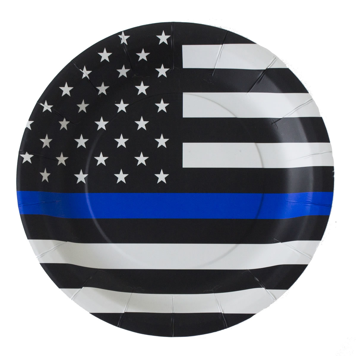 Thin Blue Line Paper Plates